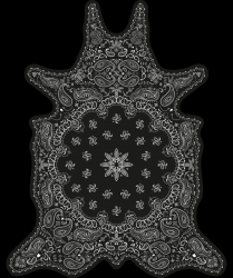 Vinyl Floormat Bandana | Black