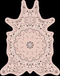 Vinyl Floormat Bandana | Pink