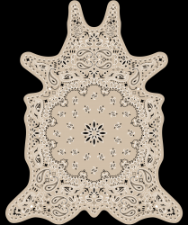 Vinyl Floormat Bandana | Beige