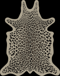 Leopard Vinyl Floormat | Beige