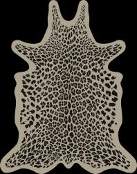 Leopard Vinyl Floormat | Beige