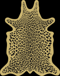 Leopard Vinyl Floormat | Yellow