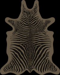 Zebra Vinyl Floormat | Brown