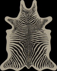 Zebra Vinyl Floormat | Beige