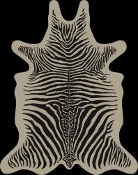 Zebra Vinyl Floormat | Beige