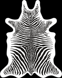 Zebra Vinyl Floormat | White