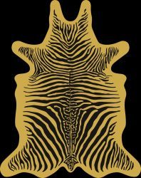 Zebra Vinyl Floormat | Yellow