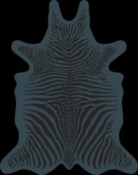 Zebra Vinyl Floormat | Blue