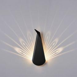 Wandlamp Pauw | Aluminium | Zwart