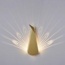 Wandlamp Pauw | Aluminium | Goud