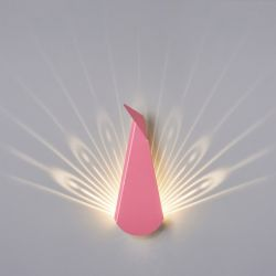 Wall Light Peacock | Aluminium | Pink