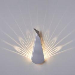 Wandlamp Pauw | Aluminium | Zilver
