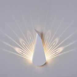Wall Light Peacock | Aluminium | White