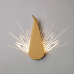 Wall Light Peacock | Cardboard | Natural Plug