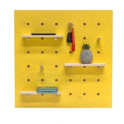 Triventi Pegboard Square | Yellow
