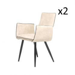 Set of 2 Chairs Penelope | Beige