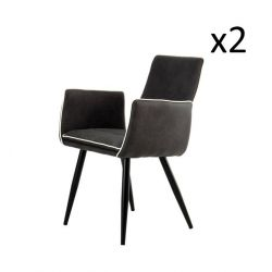 Set of 2 Chairs Penelope | Black