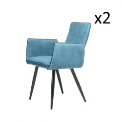 Set of 2 Chairs Penelope | Dark Blue