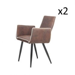 Set of 2 Chairs Penelope | Dark Brown