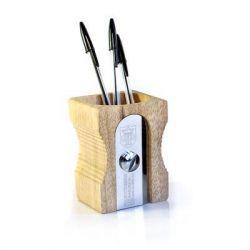 Pot à Crayons Taille-Crayon | Bois Clair