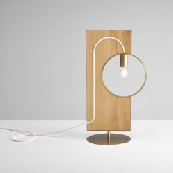 Lampe de Table Loop | Chêne