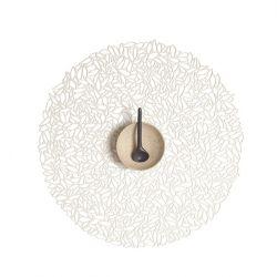 Rundes Tischset | Vinylblatt | Porzellan