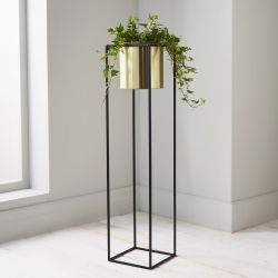 Plant Holder Stand | Black & Gold