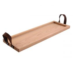 Serving Tray with Leather Handle | Beech
