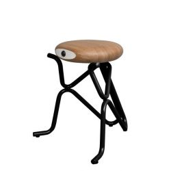 Companion Junior Stool | Black & Oak