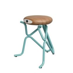 Companion Junior Stool | Blue & Oak