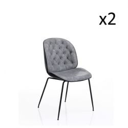 Set of 2 | Chair Phoenix | Grey