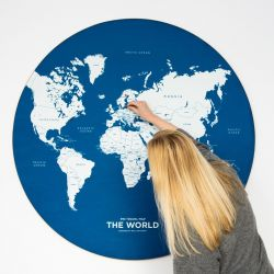 World Map Pin Travel | Blue