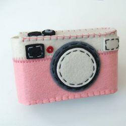 Camera Case Holder Pink
