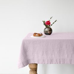Tischdecke 200 x 140 cm | Rosa Lavendel