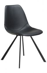 Chaise Pitch Cuir Art. | Noir