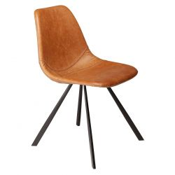 Chair Pitch Artificial Leather | Vintage Light Brown