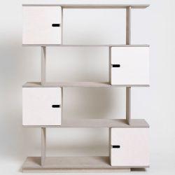 Shelf PIX | Pebble Grey + White Oilwaxed Doors