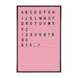 Pink Letter Board + Black Letters