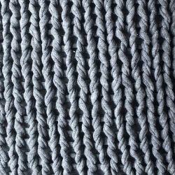Plaid Knit Fait Main | Gris Ecole