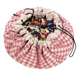 Toy Storage Bag | Pink Diamonds