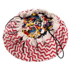 Toy Storage Bag | Zig-Zag Red