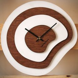 Palette Clock | Wood/White