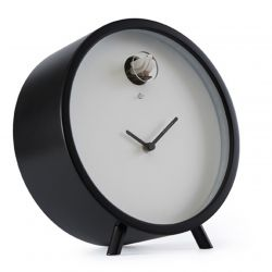 Plex Cuckoo Table Clock - Black