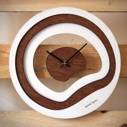 Plage Wall Clock | Wood/White