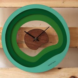 Plage Wall Clock | Wood/Green