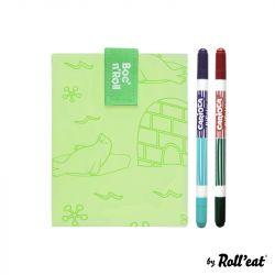 Wiederverwendbare Sandwichfolie Boc'n'Roll-Farbe Polar | Grün
