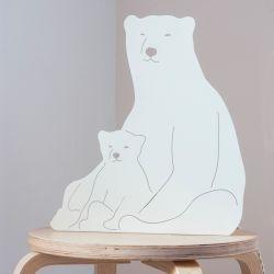 Decoupage-lamp | Ijsberen