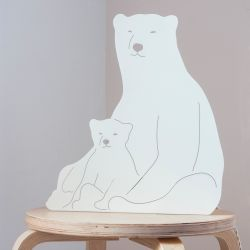 Decoupage-Lampe | Eisbären