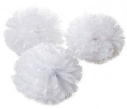 Set Pompon Only White