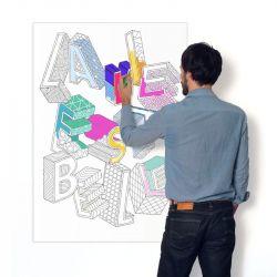 Farbiges Poster | La Vie est Belle